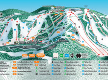 Seven Springs Mountain Resort Trail Map.