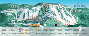 Seven Springs Mountain Resort Trail Map.