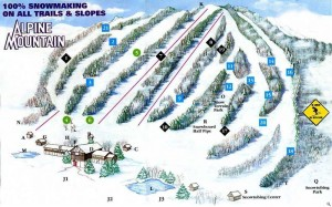 Trail map for Alpine Mountain PA