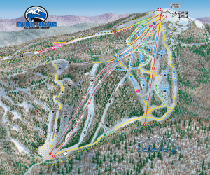 Blue Knob Ski Trail Map.