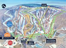 Camelback Ski Area Trail Map.