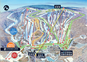 Camelback Ski Area Trail Map.