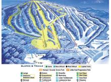 Trail map for Elk Mountain Ski Resort