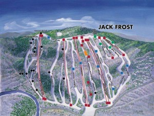 Jack Frost PA trail map.