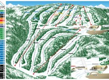 Montage Mountain ski Trail Map.