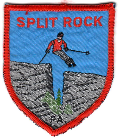 Vintage patch from Split Rock Ski Area.