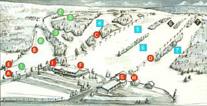 Tussey Mountain Ski Are Trail Map